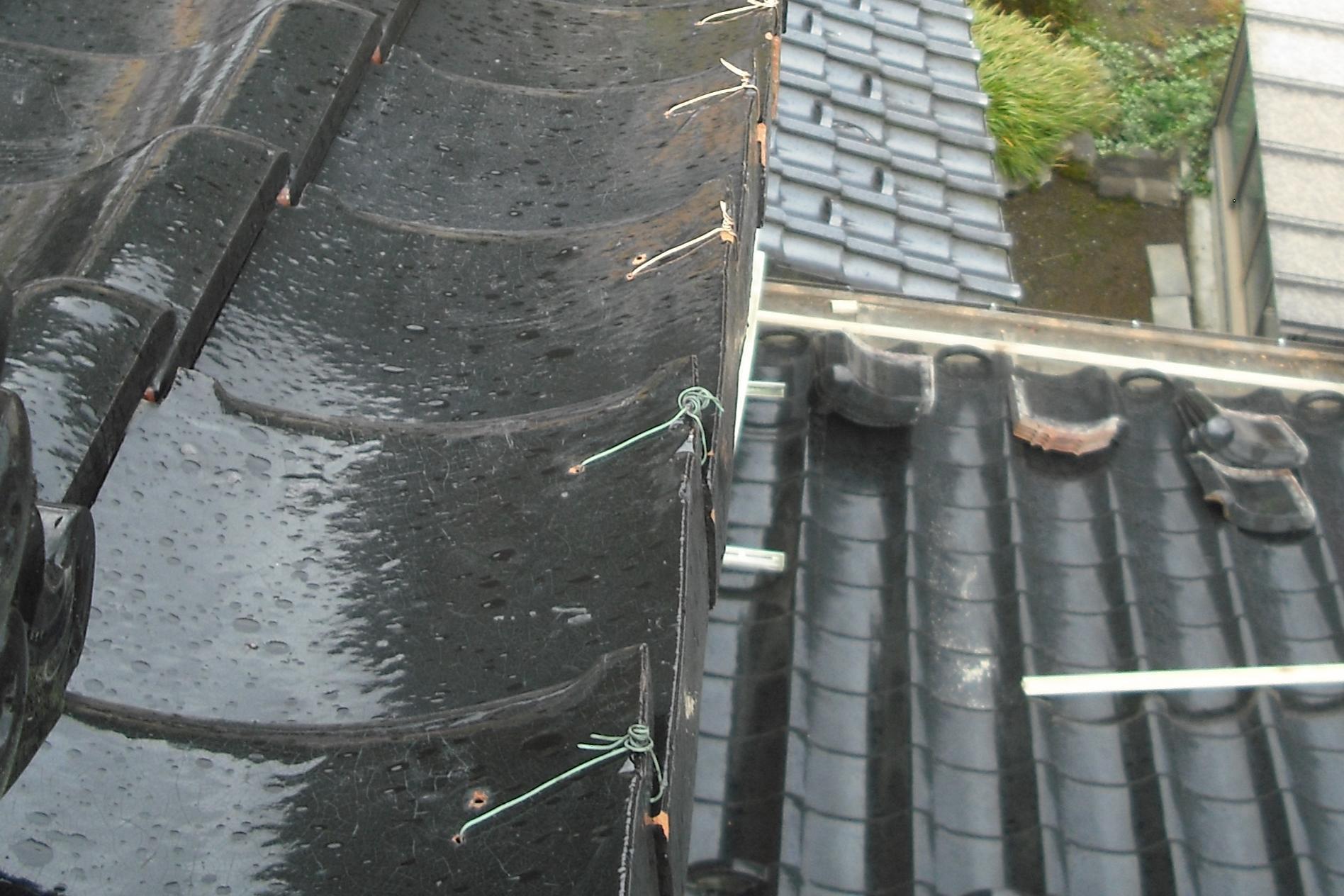 岐阜県 屋根修理 釘固定