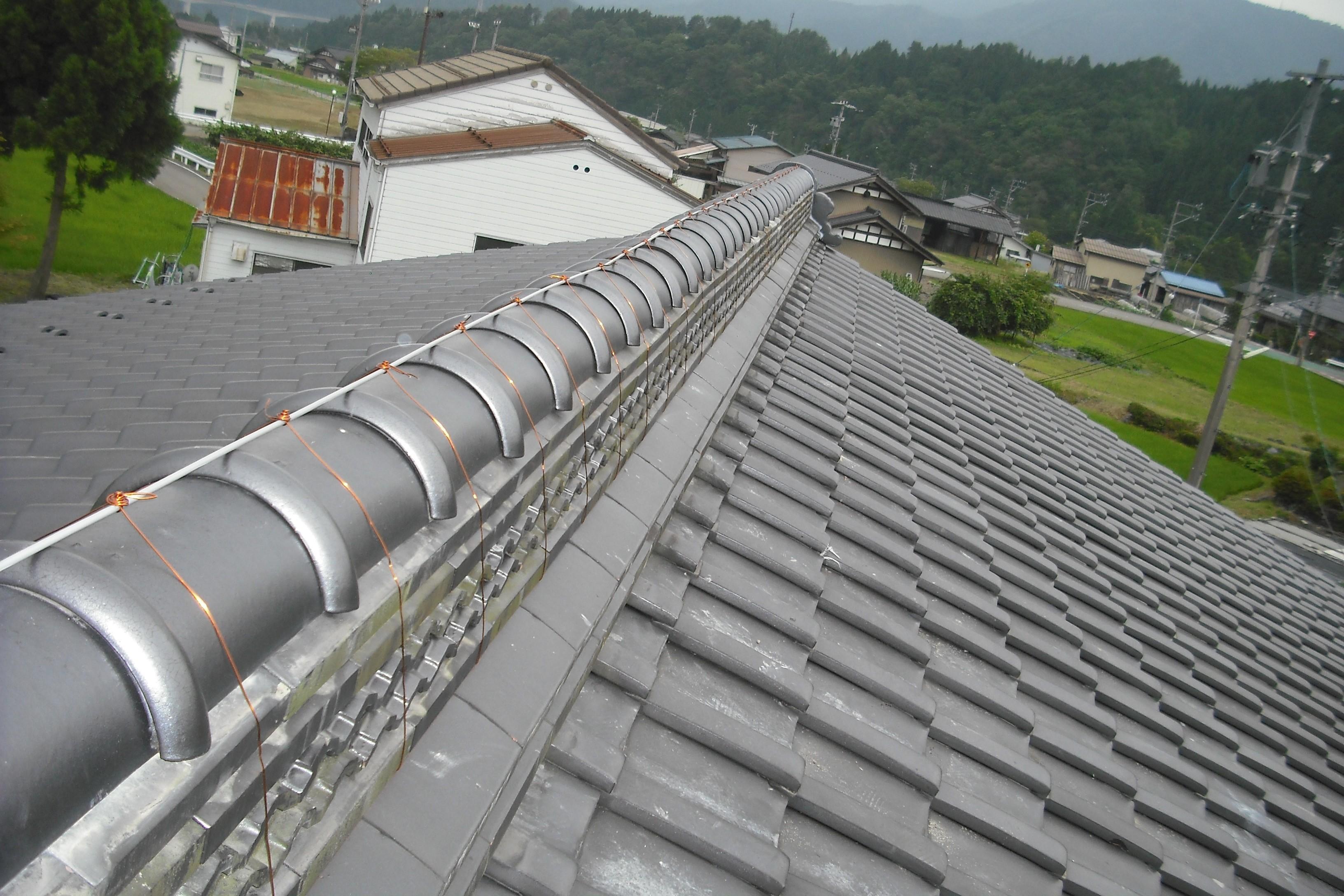 岐阜県 屋根修理 棟修理 雪害