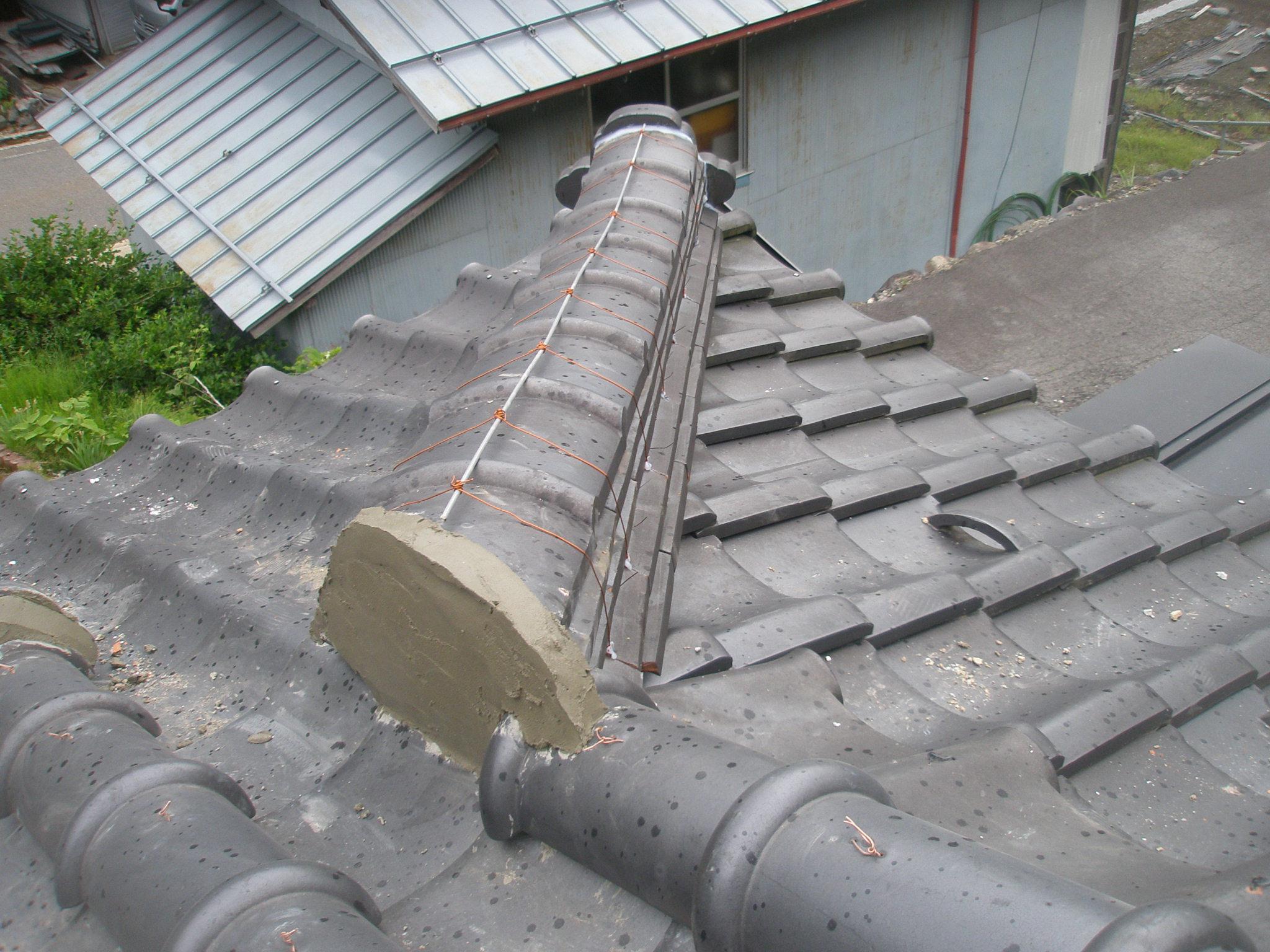 岐阜県 高鷲 屋根修理 棟修理